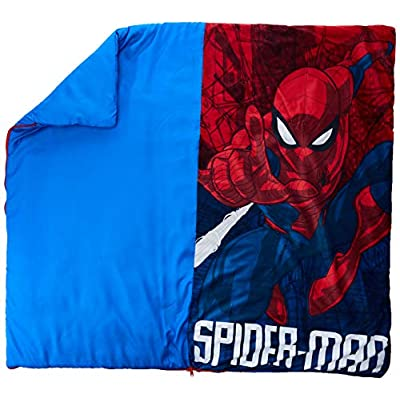 Marvel Spiderman Slumber Bag with Pillow: Toys & Games