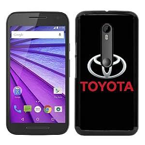 High Quality Moto G 3rd Case,Toyota Logo Black Motorola Moto G 3rd Generation Screen Cover Case Cool and Luxury Design