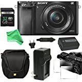 Sony Alpha a6000 ULTIMATE PRO Bundle Mirrorless Digital Camera 24.3 MP SLR Camera with 3.0-Inch LCD - Sony 16-50mm Power Zoom Lens + Power Battery + Charger + Case + 32GB SD - DigitalAndMore Bundle