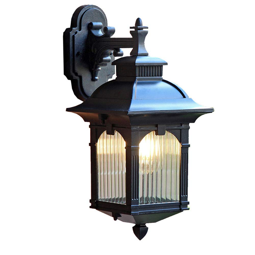 JINGD Wasserdichte Wandleuchte im Freien, LED Innenhof Balkon Beleuchtung Flur Terrasse im chinesischen Stil Wohnzimmer Schlafzimmer Lampe