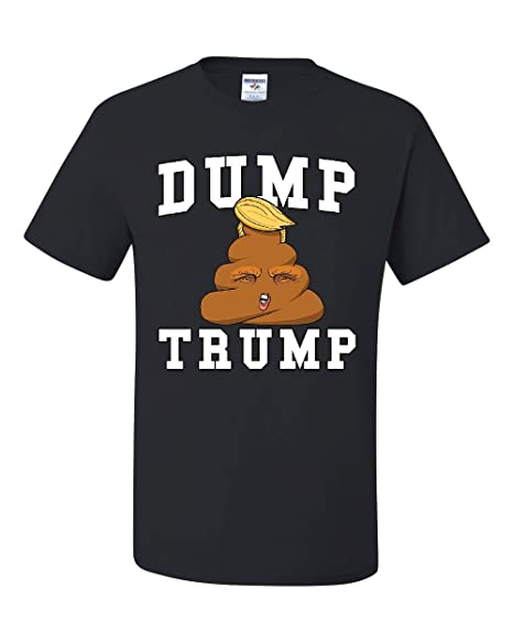 Dump Trump T-Shirt Poop Emoji Funny Anti-Trump Parody Impeach Tee Shirt