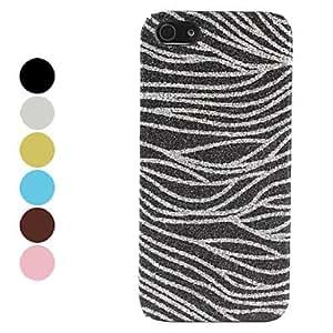 Mini - Flash Powder Design Zebra Pattern Hard Case for iPhone 5/5S Color: Black
