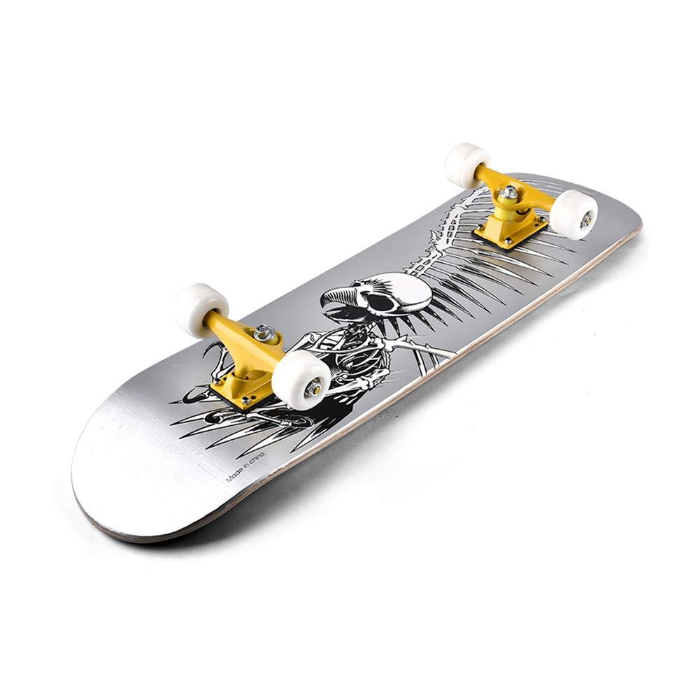 激安直営店 ZX 初心者 B07H2D2ZZK 専門家 スケートボード アダルト スケートボード 4ラウンド スケートボード ロングボード ダブルロッカー ダブルロッカー 若者 男の子 女の子 子供 スクーター B07H2D2ZZK, MARUYAMAYA:db2000f3 --- a0267596.xsph.ru