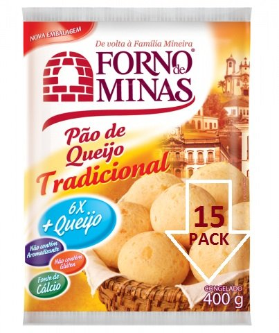 Pao De Queijo Forno De Minas Congelado 15 Pack/400gr - Cheese Bread Frozen by Forno de Minas