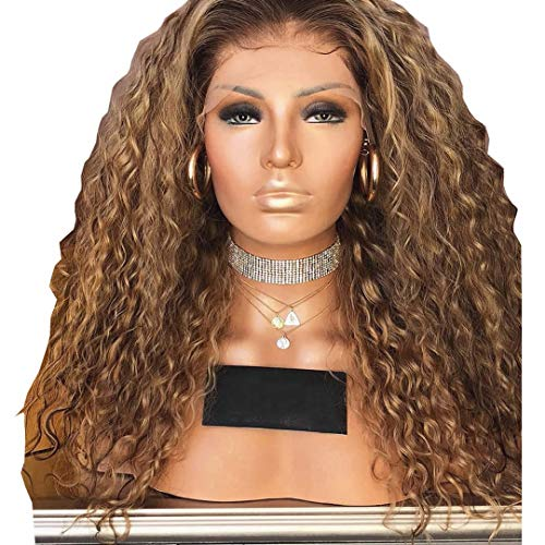 Trans-border African petite woman dyed long curly hair synthetic wig European and American head set -