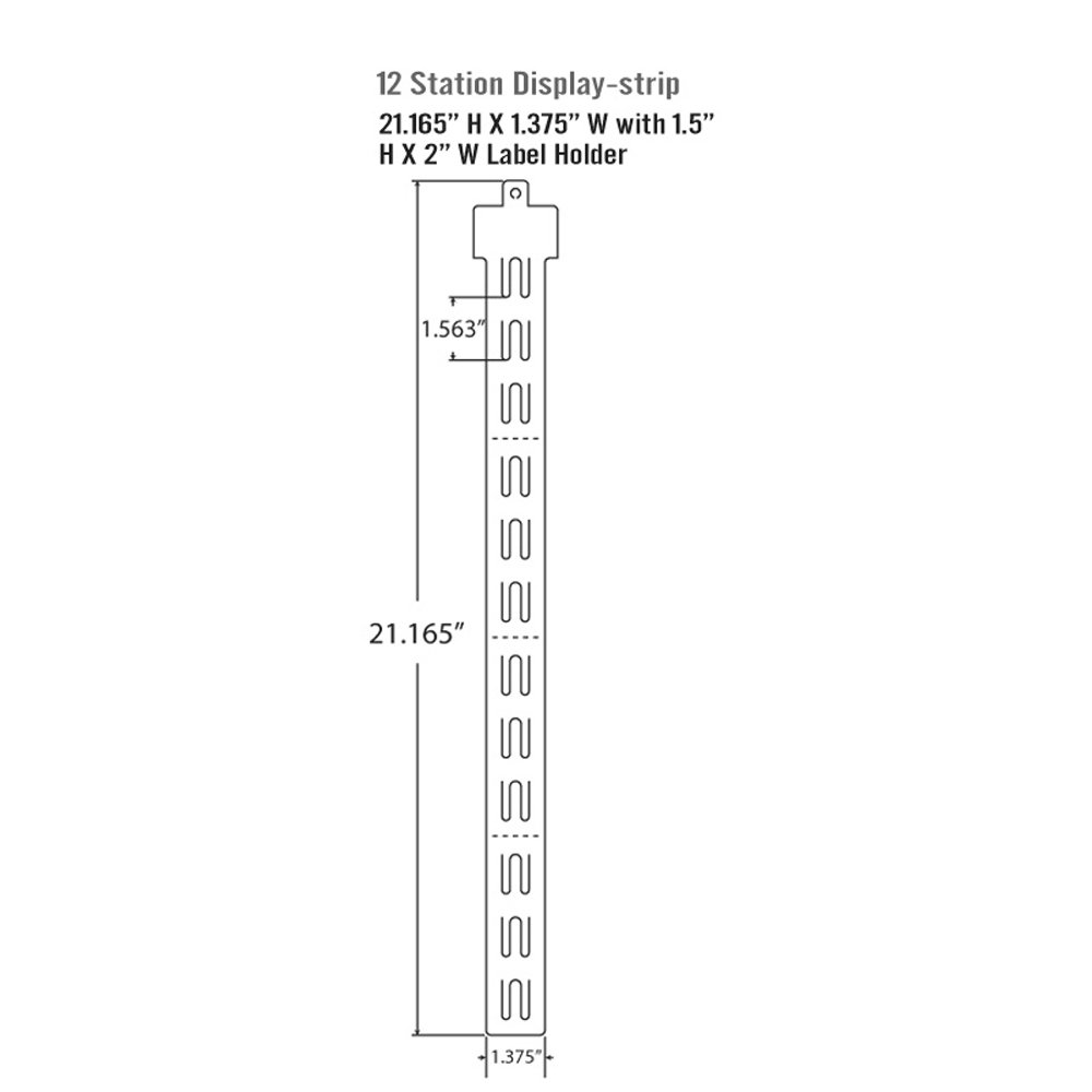 Azar 800225 12 Station Display Strips 50-Pack