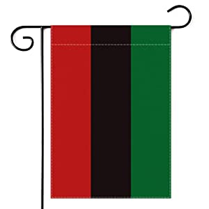 Dswesun Pan-African Garden Flag , UNIA Afro-American Black Liberation Flag Black Lives Matter Two Layer Fabric and Double Sided Printing , Garden Flags Yard Décor and Front Porch Décor,12.5 x 18 Inch