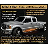 Recon 26414 62 BIG RIG LED Side Mounted Running Light Kit in Amber - Fits all Extended & Quad Cab Trucks