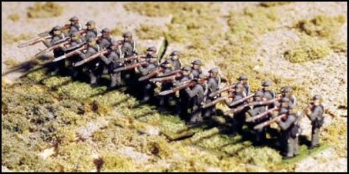 - Infantry Standing Firing in Shell Jacket & Forage Cap - CSA