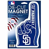 MLB San Diego Padres Die Cut #1 Finger Logo Magnet