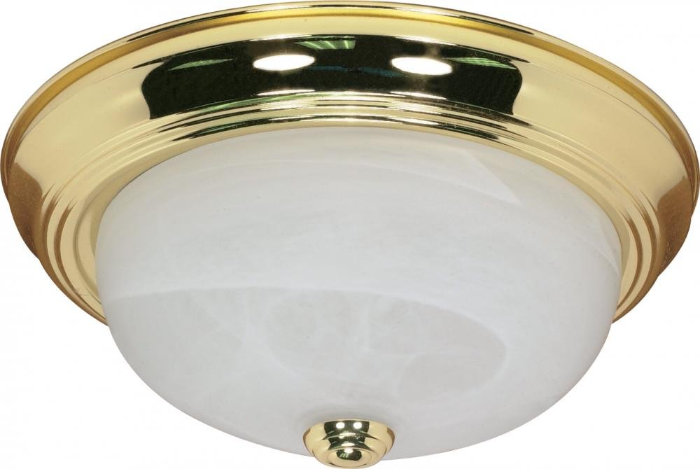 Nuvo Gothamシャンデリア 60/214 1 Polished Brass / Alabaster Glass 13インチ フラッシュ Polished Brass / Alabaster Glass B0020S97F4
