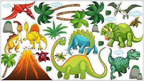 nikima - 017 Wandtattoo Wandbild Kinderzimmer Dinosaurier T-Rex Urzeit  Brachiosaurus - in 6 Größen - Kinderzimmer Sticker Babyzimmer Wandaufkleber  ...