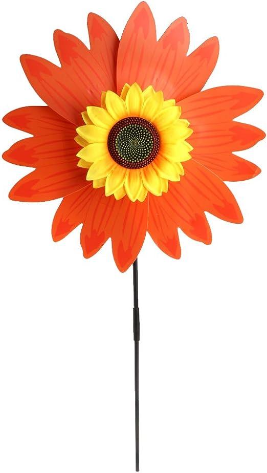 Museourstyty molinillo de viento colorido girasol molino de viento para niños, juguetes de decoración para el hogar, jardín, actividades al aire libre: Amazon.es: Hogar
