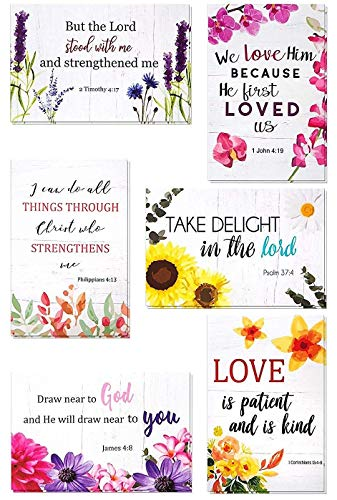 60 Pack Inspirational Bible Verse Greeting Cards - Inspiring Christian Greeting Cards - Religious Motivational Cards - Bulk Boxed Christian Cards - Includes 60 Cards With Envelopes - 4 x 6 Inches