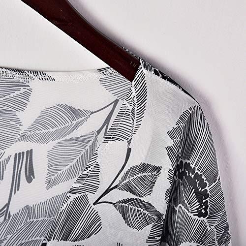 Mode de Plage Cardigan Tops Veste Sunenjoy Longue Gris Gilet Floral Femme Blouse Imprim Kimono Japonais Manteaux Smock Chemisier Bikini Mousseline Soie Casual Damasse fHfdXq1wx