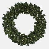 48'' Pre-Lit Oregon Fir LED Wreath, 150 Warm White LED Lights