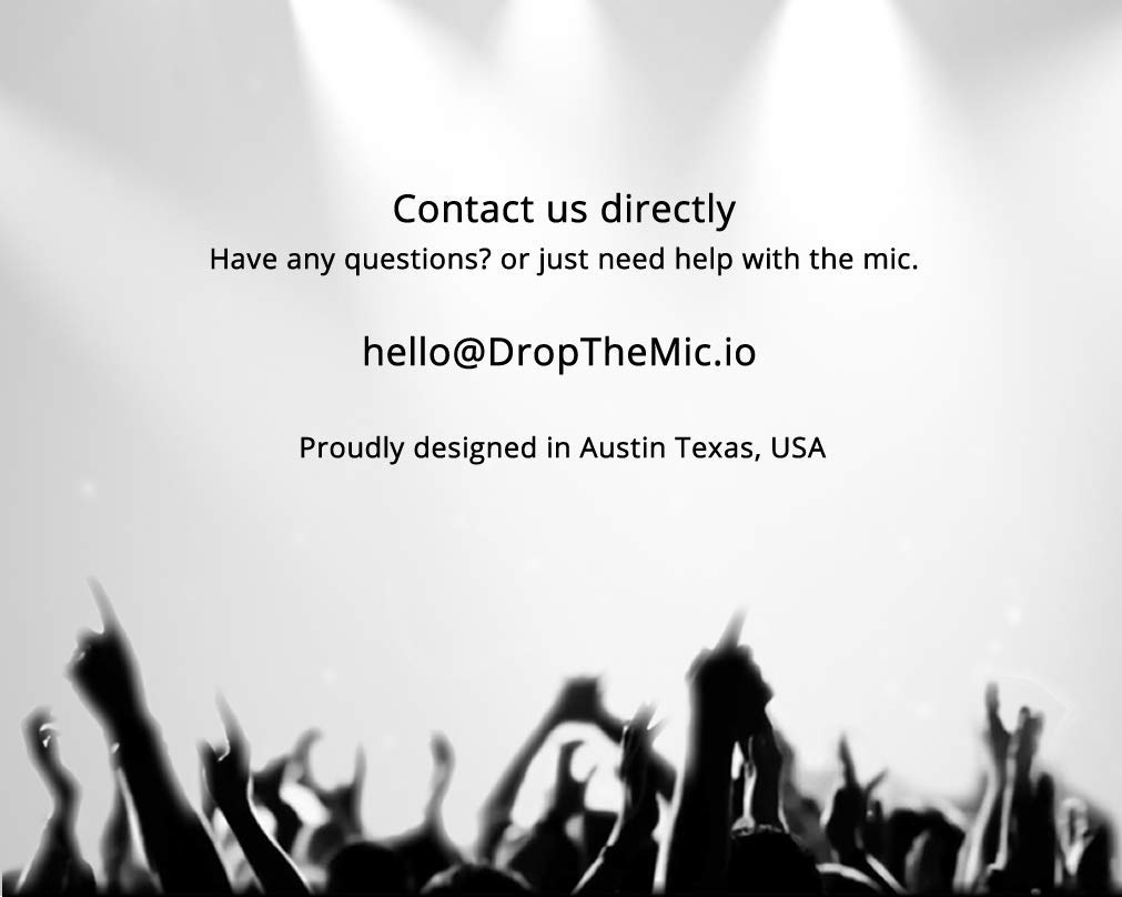Technical Graffiti - Drop The Mic Microphone - Plays your recording when dropped by Technical Graffiti