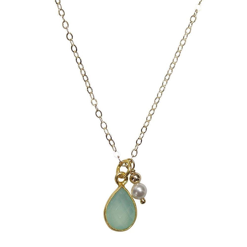 Nathis Aqua Chalcedony Necklace