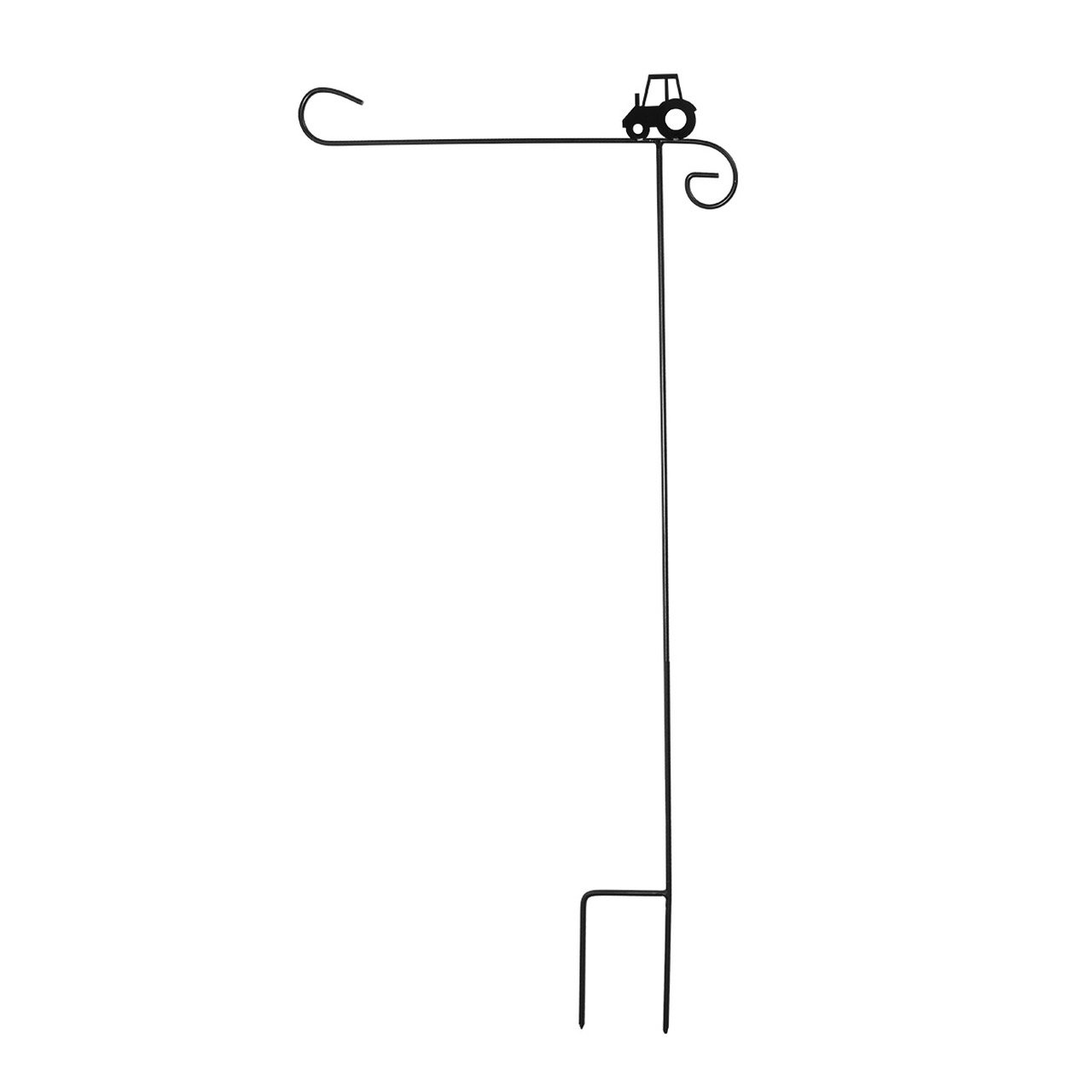 Briarwood Lane Wrought Iron Tractor Garden Flag Stand 40'' H