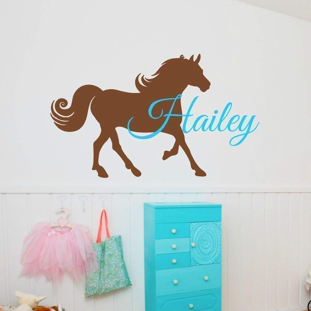 B015V05350 Personalized Horse Wall Decal, Horse Name Decal, Horse Room Decor, Over 30 Colors & Several Sizes 51Q7Ggw3E8L