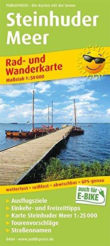 Steinhuder Meer: Rad- und Wanderkarte mit Ausflugszielen, Einkehr- & Freizeittipps, wetterfest, reissfest, abwischbar, GPS-genau. 1:50000 (Rad- und Wanderkarte / RuWK) Landkarte – Folded Map, 1. April 2018 PUBLICPRESS 3747304044 Niedersachsen Hiking