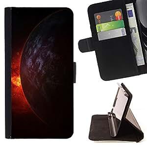 Momo Phone Case / Flip Funda de Cuero Case Cover - Fuego Universo Planet Burning Cosmos Doomsday - LG G3