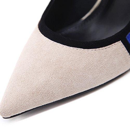 della con coreana erano Cuciture colore donne apricot versione selvaggia scarpe sexy di reticolo singoli nuova ZHZNVX pattini La cui punta nq7SA4