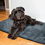 Thermal Warming Pad for Dogs and Cats - XL Couch Protecting Pet Bed (Gray)