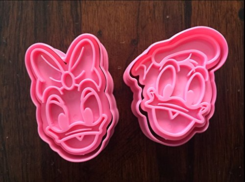 DONALD AND DAISY DUCK COOKIE CUTTERS SET FONDANT MOLD