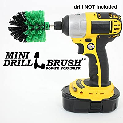 Mini Size Original Drillbrush Tub and Tile Power Scrubber in Green