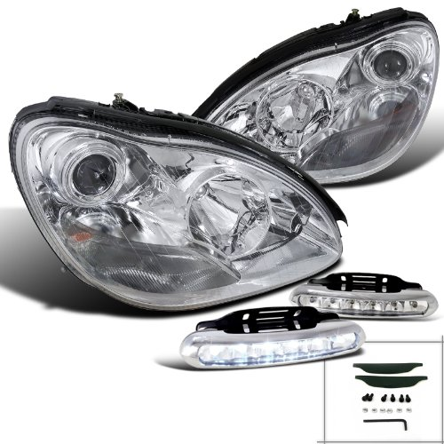 Mercedes Benz S-Class Halogen Chrome Projector Headlights+LED Fog Lamps