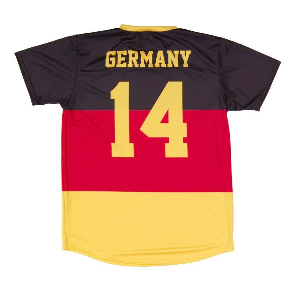 Adult X-Large Black Germany Flag #14 Soccer Jersey