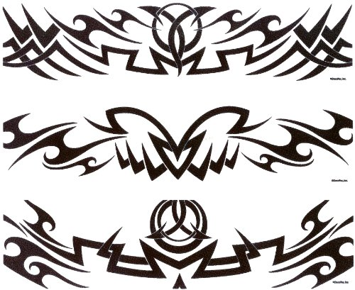 Designer Tattoo (Tribal Tattoo Designer Strips ~ Edible Image Cake / Cupcake Topper)