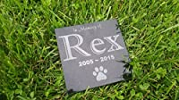 "Personalised Pet Stone Memorial Marker Granite Marker Dog Cat Horse Bird Human 6"" X 6"" Custom Design Personalized Cocker Spaniel Terrier Yorkshire Yorkie"