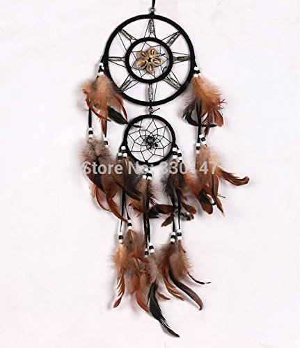 Dream Catcher Cutie Costume (New Shell Dream Catcher with Feathers Wall Hanging Decoration Car Dreamcatcher Filtro Dos Sonhos Wind Chime Ornament Gift)