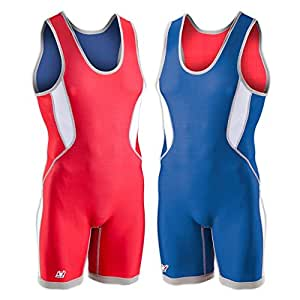 Brute Ventilated Reversible Singlet - SIZE: YS, COLOR: Royal/Scarlet