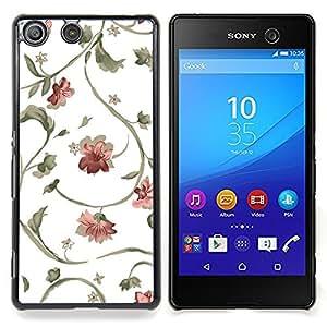 Queen Pattern - FOR Sony Xperia M5 - Floral Pattern Wallpaper White Blossoms Art - Cubierta del caso de impacto con el patr???¡¯???€????€????&su