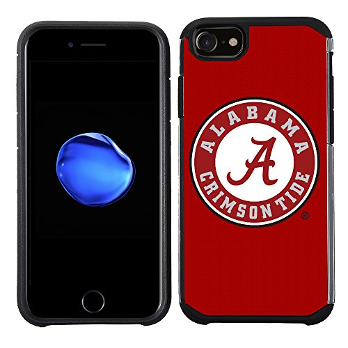 Prime Brands Group Textured Team Color Cell Phone Case for Apple iPhone 8/7/6S/6 - NCAA Licensed The University of Alabama Crimson Tide