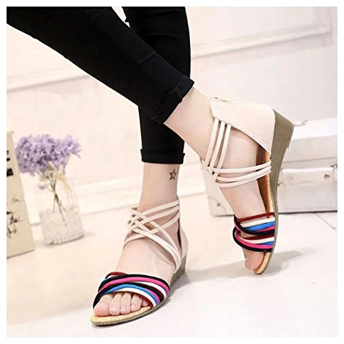 Women Inkach Flops Thong Beige Bohemia Summer Flip Beach Sandals Sandals Summer Flat Shoes E1g1Sq