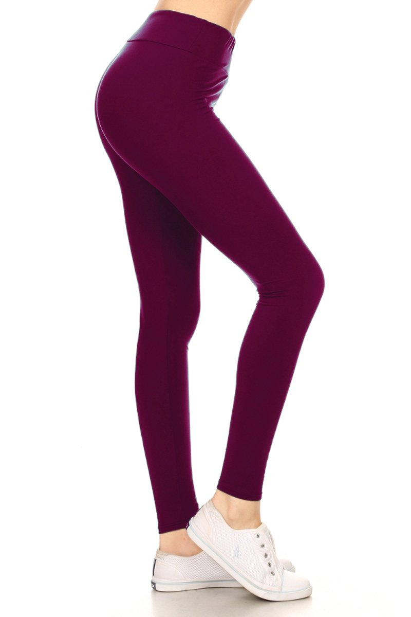 Leggings Depot Yoga Waist REG/Plus Women's Buttery Soft Leggings