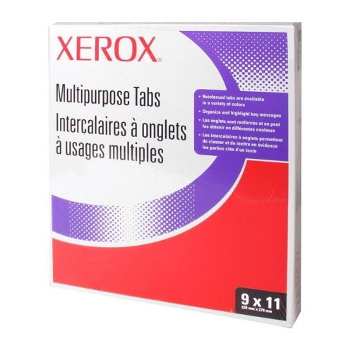 Wholesale CASE of 10 - Xerox Straight Collated Copier Tabs-Copier Tabs,90lb,Straight Collated,Unpunched,50 ST/PK,WE