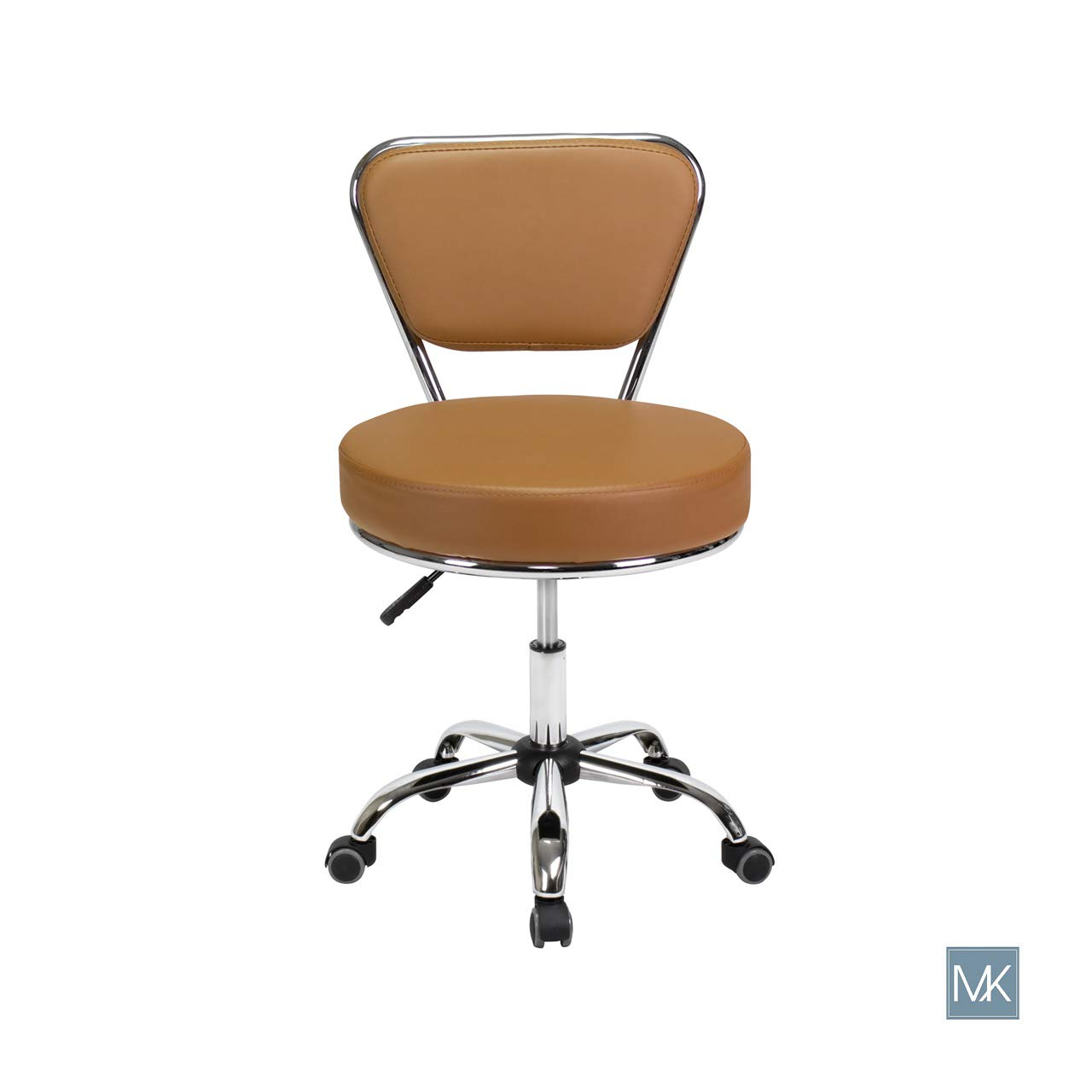 Dayton TECHNICIAN Stool Cappuccino Pneumatic, Adjustable Height 19''-25'' Perfect for Manicures, Nail Salon, Rolling Salon Furniture & Equipment