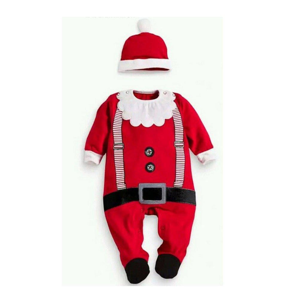 Mono de algodón Bebé Niño Niña Manga Larga con Capucha Otoño e Invierno Navidad Vestido Papá Noel Ciervo Carta Impresa Manga Corta El Verano Ropa Arrastrándose A30