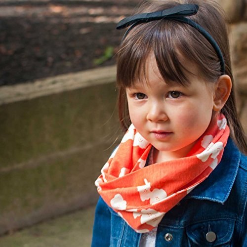 - Common Thread Kids - Baby & Toddler Infinity Scarf with Snap | ORGANIC, Coral Poppies