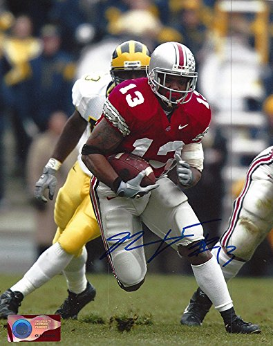 Maurice Clarett Autographed Ohio State Buckeyes 8x10 Photograph - Highlight Reel - Certified Authentic - Autographed (Ohio State Buckeyes 8x10 Photo)