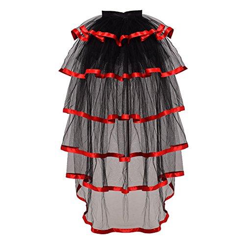 GRACEART Victorian Steampunk Tie-on Bustle Costume Tutu Belt Lace Underskirt
