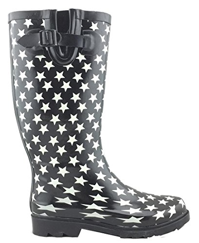Stars Pattern Waterproof White Boots Select Rain Colorful Women's Print Cambridge Welly q7fBgxvO