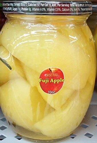 2 Jars - 10oz MW Polar Fruit Fuji Apple Slices in Light Syrup by MW Polar