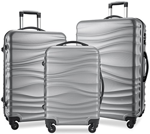 BIXIDRAGON Luggage Sets 3 Pcs PC+ABS Light Weight Spinner Suitcace With TSA Lock