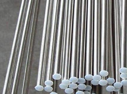 length 0.5m 1.64 FT 2pcs 316L Diameter 5mm Stainless Steel Rods